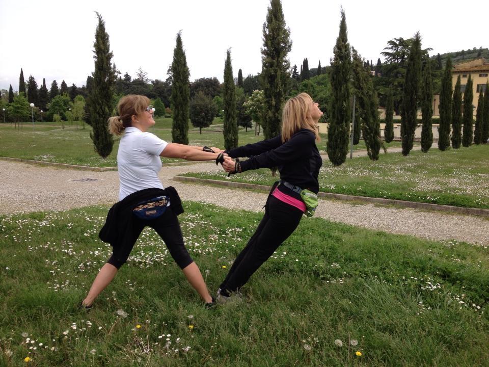 Arezzo - Villa Severi - Stretching dopo la lezione 2P/B