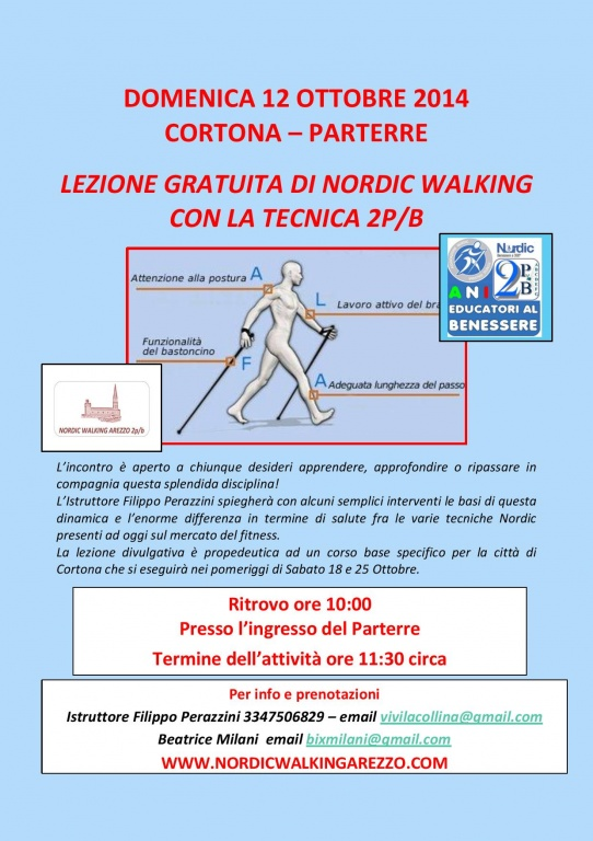 CORTONA - DIMOSTRAZIONE GRATUITA DI NORDIC 2PB - 12 OTTOBRE 2014