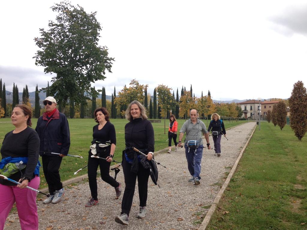 Dinamica del cammino nel parco di Villa Severi - Arezzo