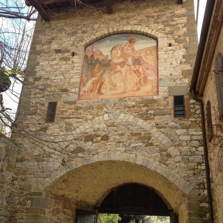 Castello di Montalto: Affresco di San Martino - Castelnuovo Berardenga (SI)