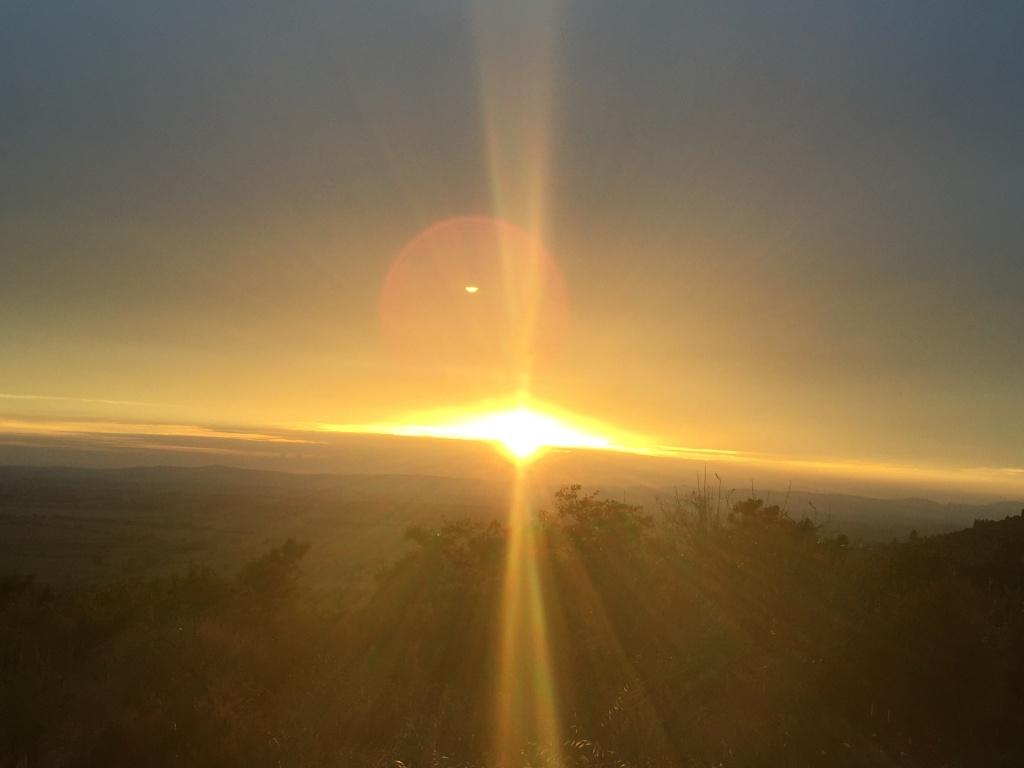 ....tramonto durante la notturna del 15 Agosto 2015