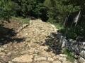 L'antica strada basolata per arrivare alla Città del Sole